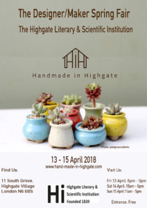 Handmade In Highgate the Spring Show @ HLSI | England | United Kingdom