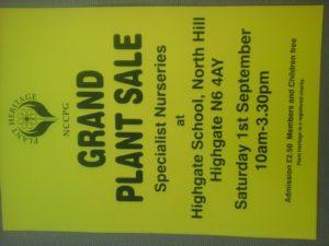 Grand Plant Sale @ Highgate School