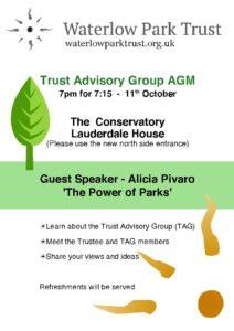 Waterlow Park T.A.G. AGM @ Lauderdale House