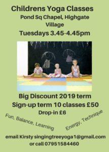 SingingTreeYoga Children's Yoga Classes @ Pond Sq Chapel