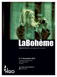 HGO's new production of Puccini's 'La Bohème - fully staged with chorus and orchestra @ Jacksons Lane Theatre