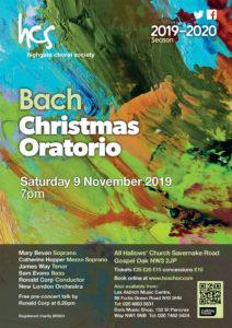 Highgate Choral Society Bach Christmas Oratorio @ All Hallows' Church
