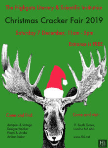 The HLSI Christmas Cracker Fair 2019 @ The HIghgate Literary & Scientific Institution